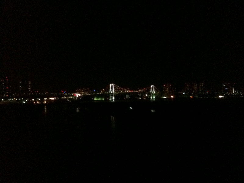 GW夜のレインボーブリッジ
