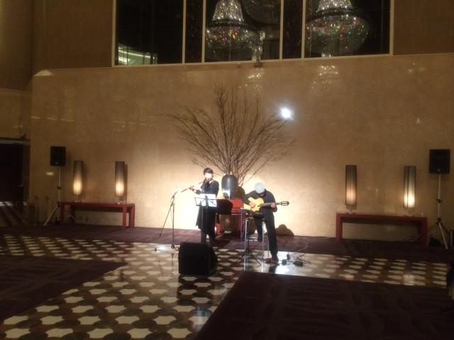 ホテルハイアットリージェンシー東京のロビーライブ