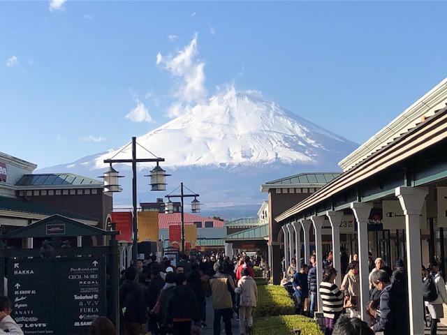 御殿場から見た富士山